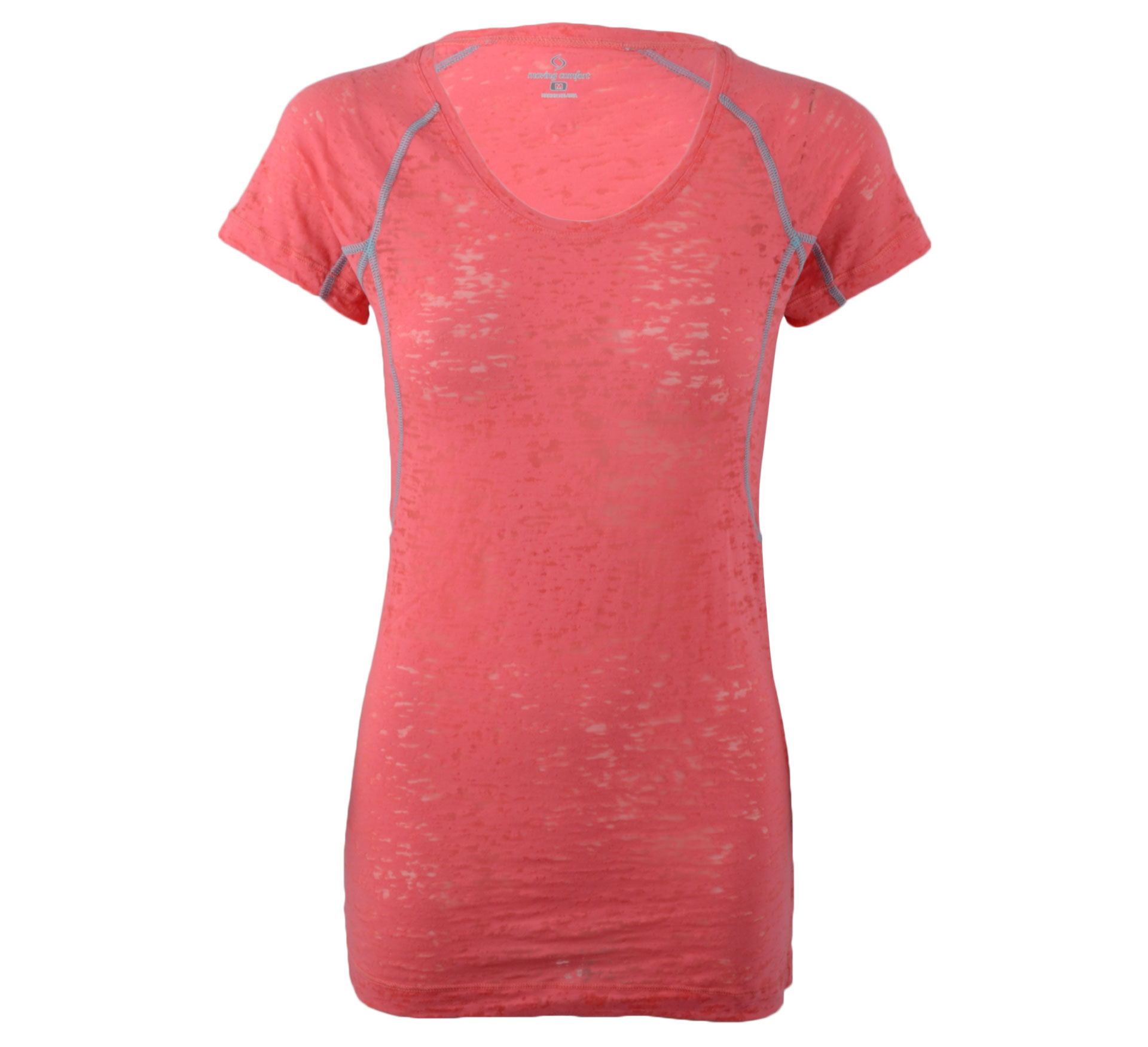 Moving Comfort Flow Burnout Tee roze - blauw