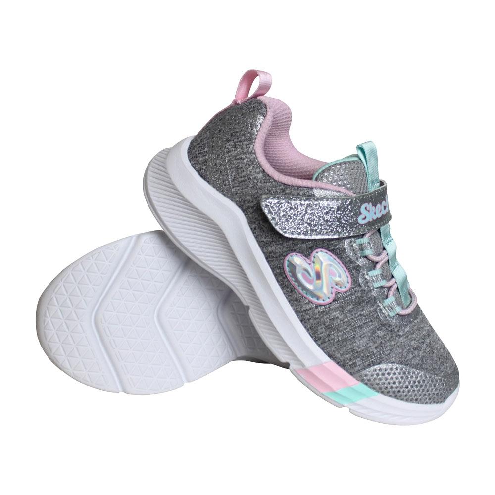 Skechers Dreamy Lites sneakers meisjes grijs/licht roze