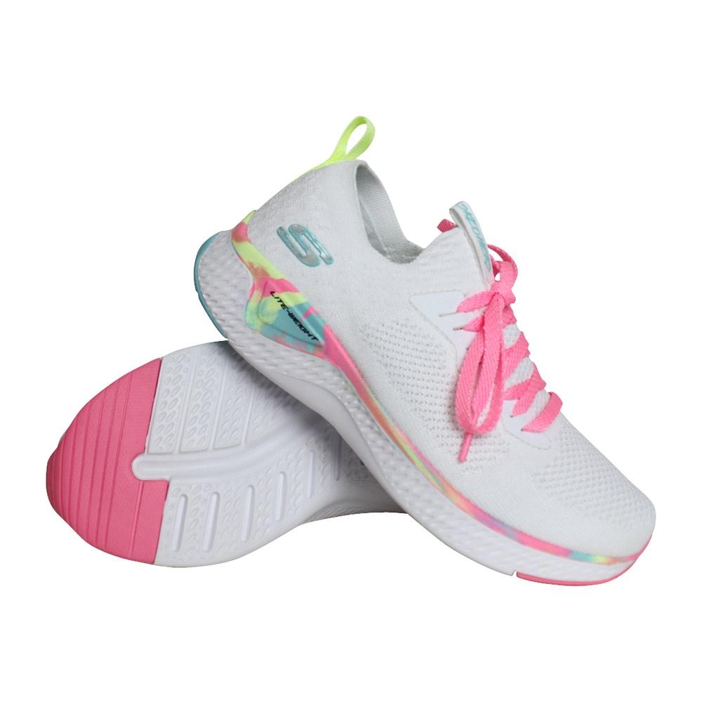 Skechers Solar Fuse sneakers meisjes wit/roze