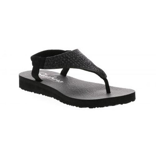 Skechers Meditation Rock sandalen dames zwart