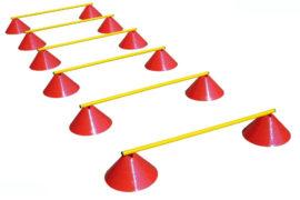 Haest Behendigheid Horden Set - Zes Horden - 16 cm rood