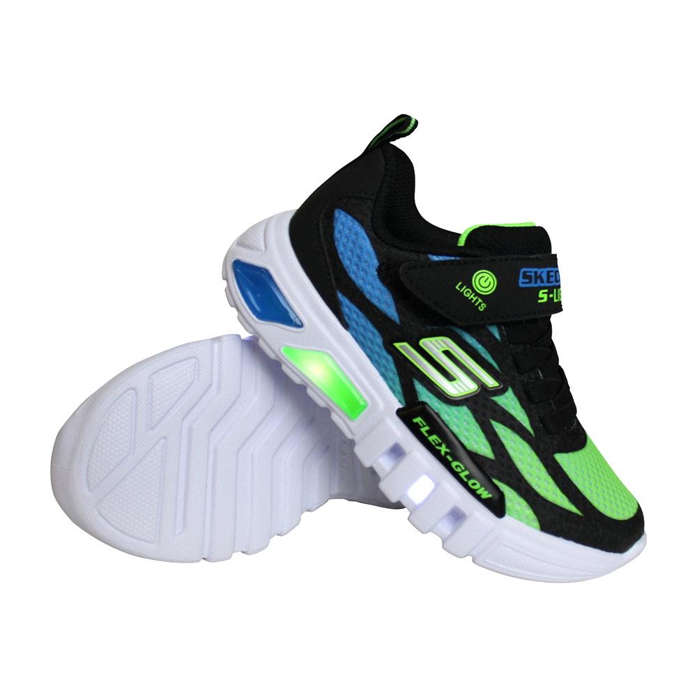 Skechers Flex-Glow Dezlo sneakers jongens marine/lime