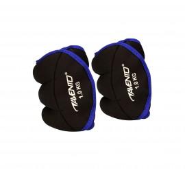 Avento  Pols & Enkelgewicht (2x 1kg) zwart - blauw