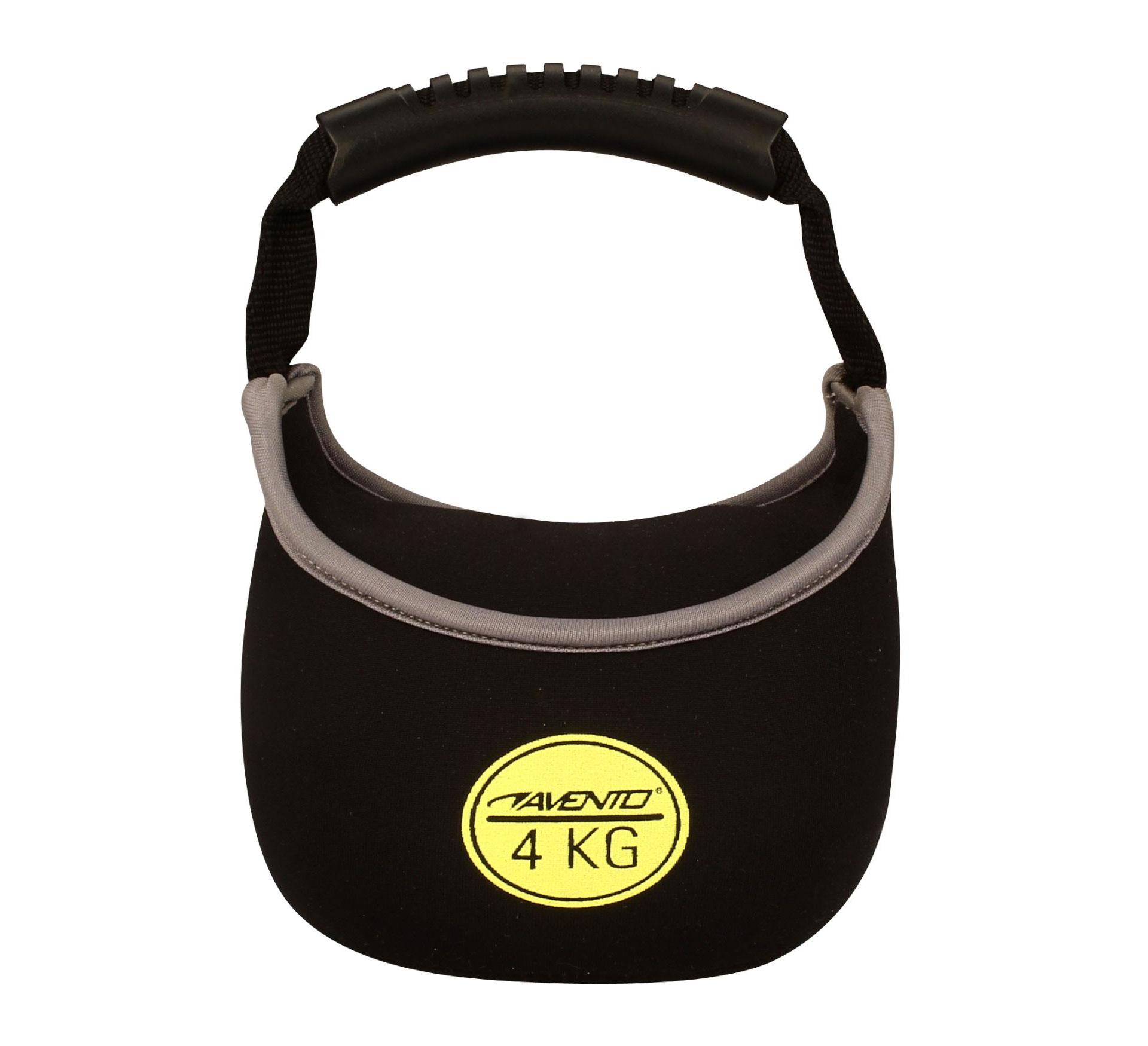 Avento Kettle Bell 4 Kg zwart