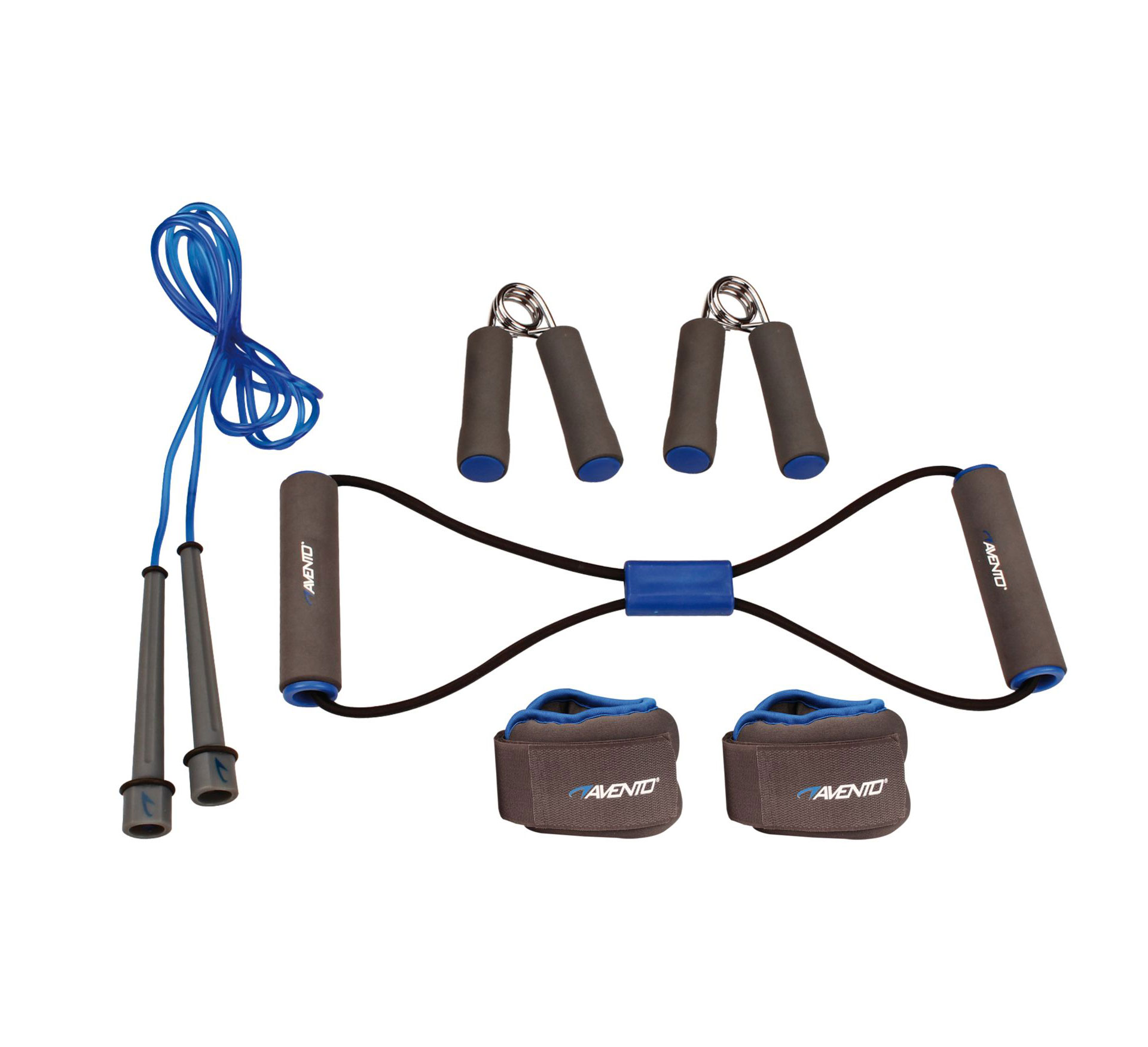Avento  Fitness Set 6-delig grijs - blauw - zwart