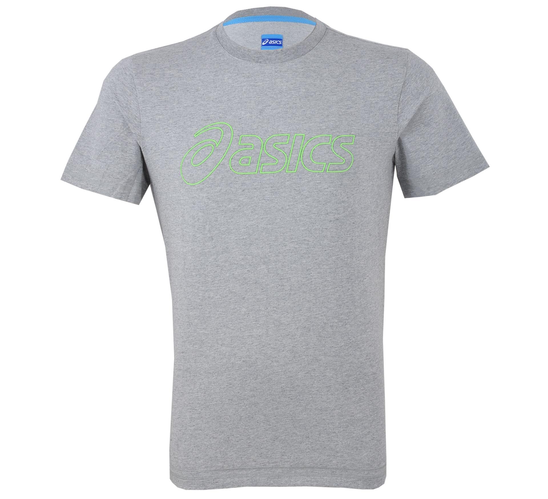 Asics  Logo T-shirt Heren grijs