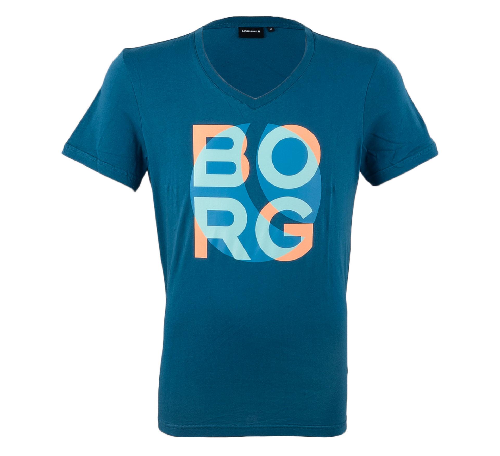 Bjorn Borg Björn Borg Secco T-shirt Heren petrol blauw