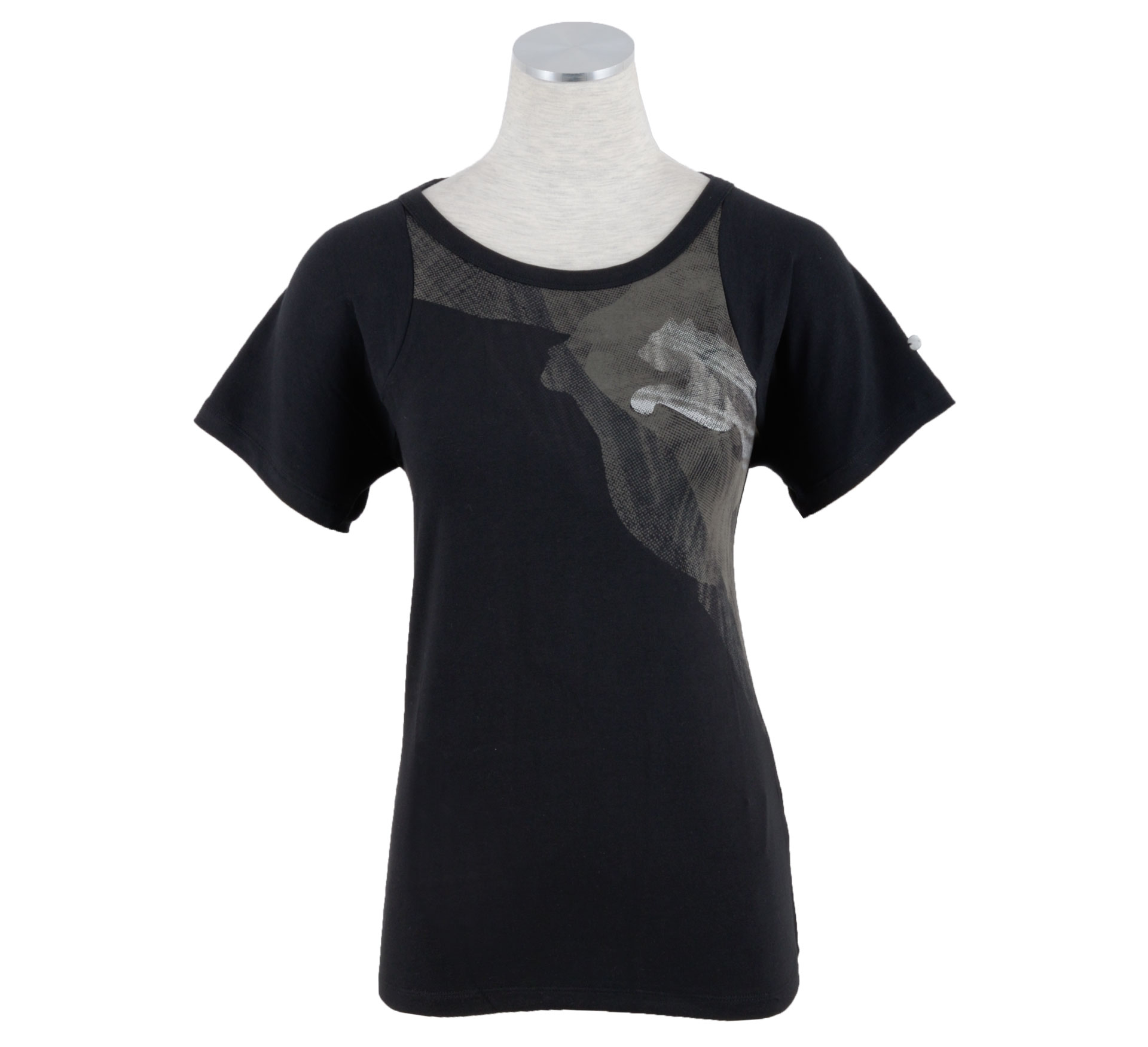 Puma Move Graphic Logo T-shirt Dames zwart - grijs