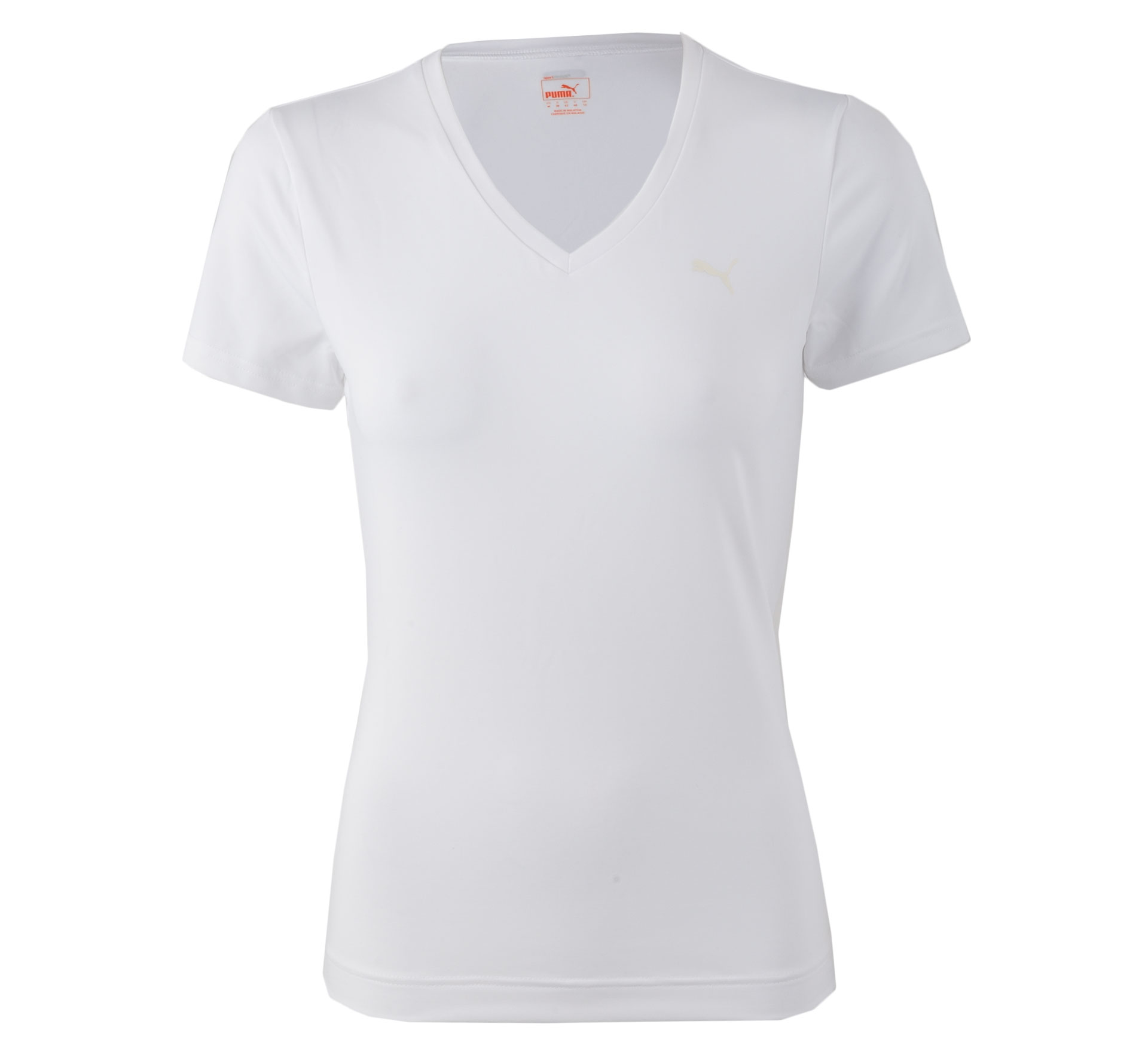 Puma Essential V-hals Shirt Dames wit