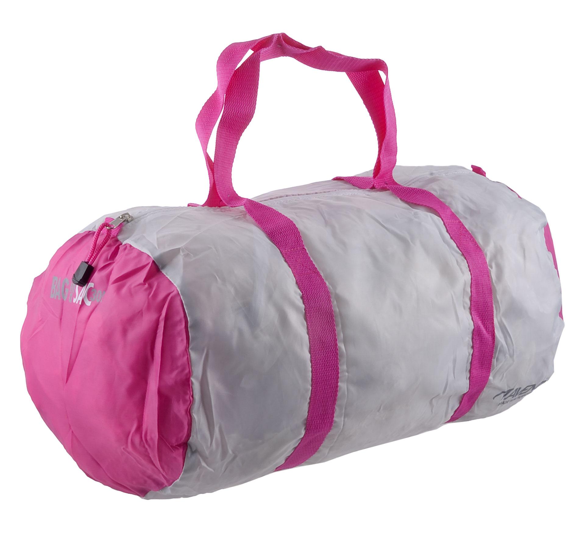 Avento  Sports Tas in een Zak wit - roze