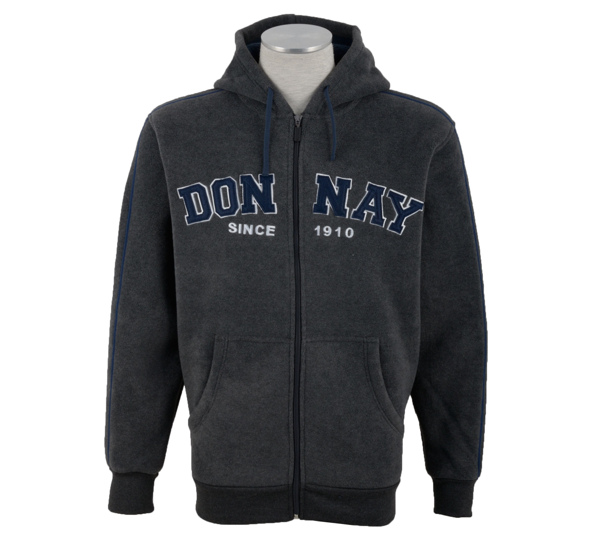 Donnay Sherpa Sweater Heren grijs – navy