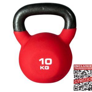 Gymstick KettleBell Pro 10 Kg Neopreen Met Trainingsvideo's