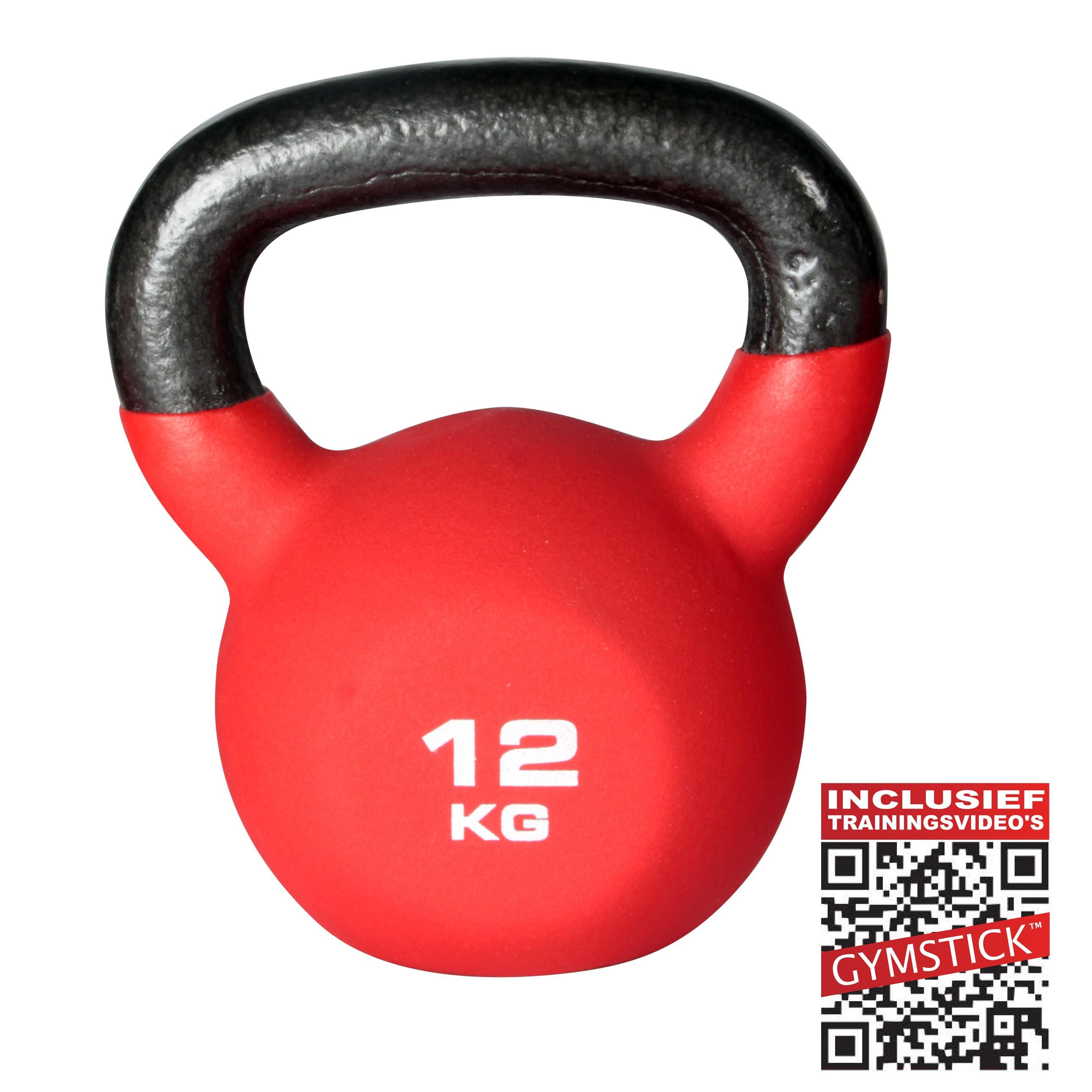Gymstick Kettlebell Pro 12 Kg Neopreen Met Trainingsvideo's