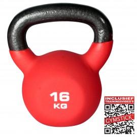 Gymstick Kettlebell Pro 16 Kg Neopreen Met Trainingsvideo's
