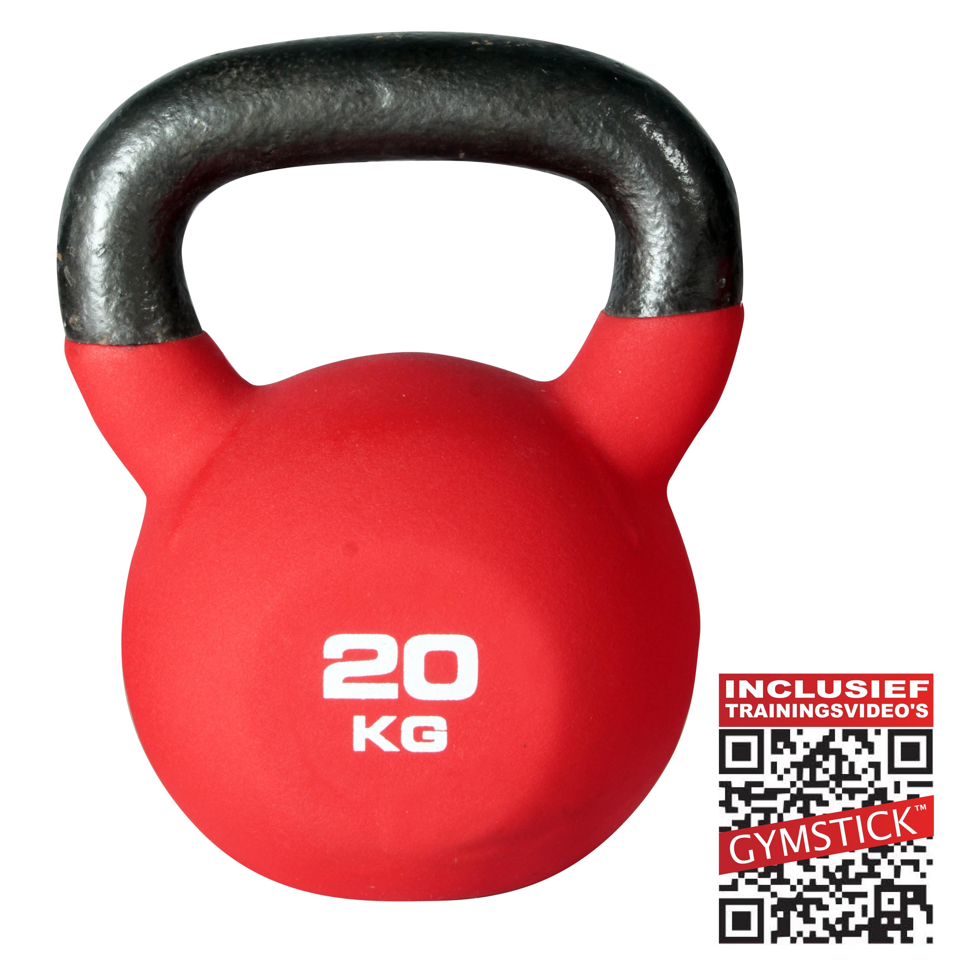 Gymstick Kettlebell Pro 20 Kg Neopreen Met Trainingsvideo's