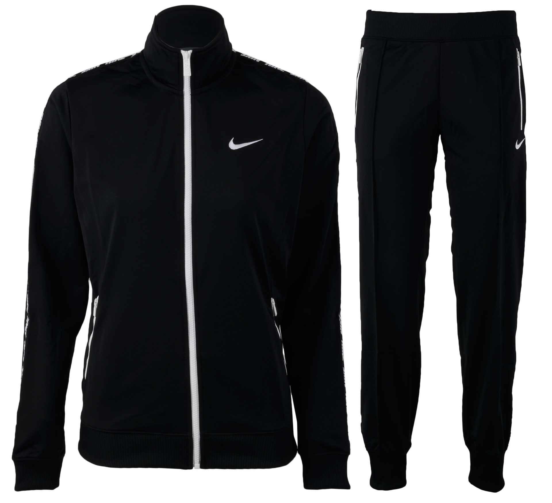 Nike  Standout Warm-Up Trainingspak Dames zwart - wit