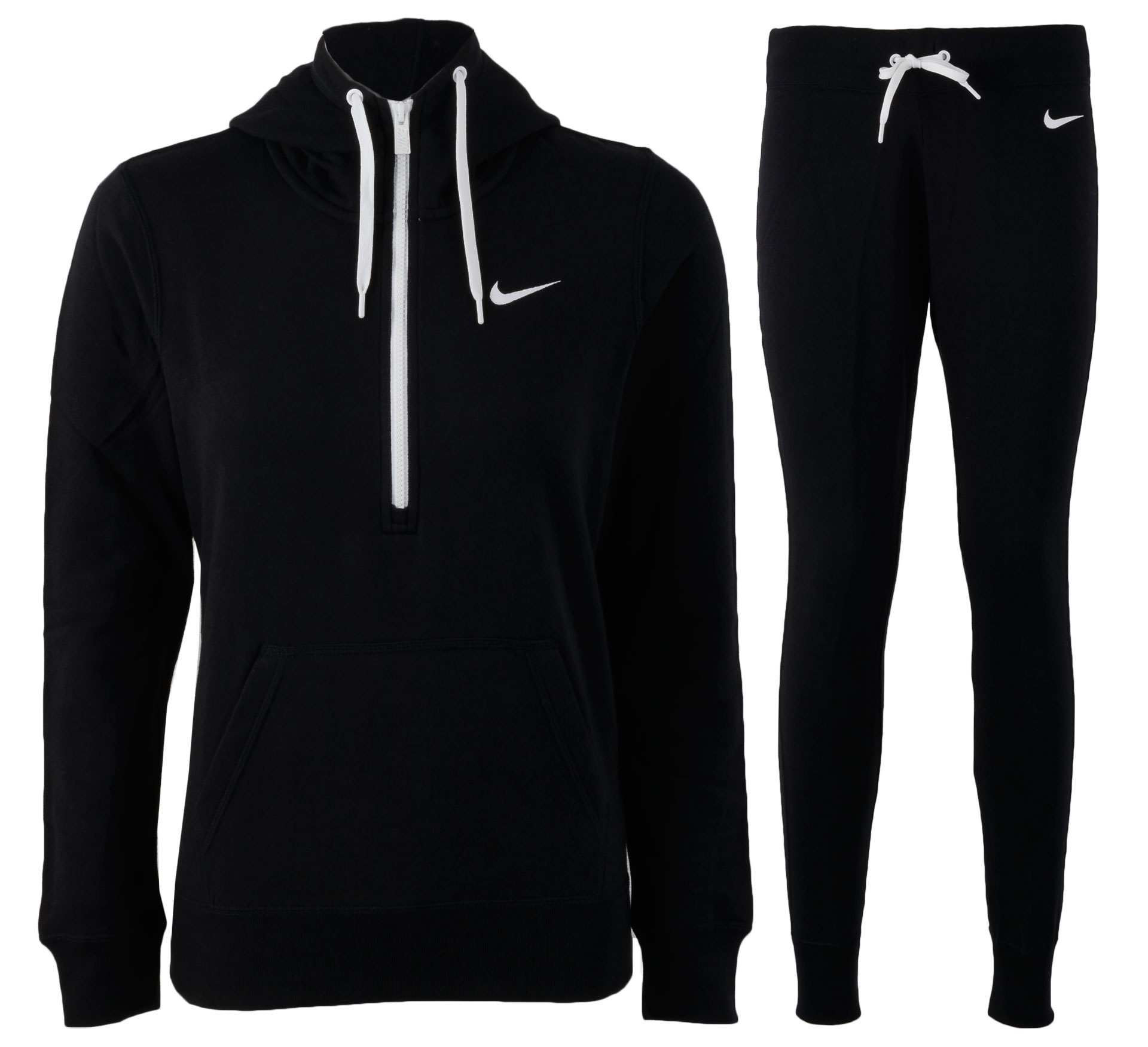 Nike  Club Warm-Up Trainingspak Dames zwart - wit