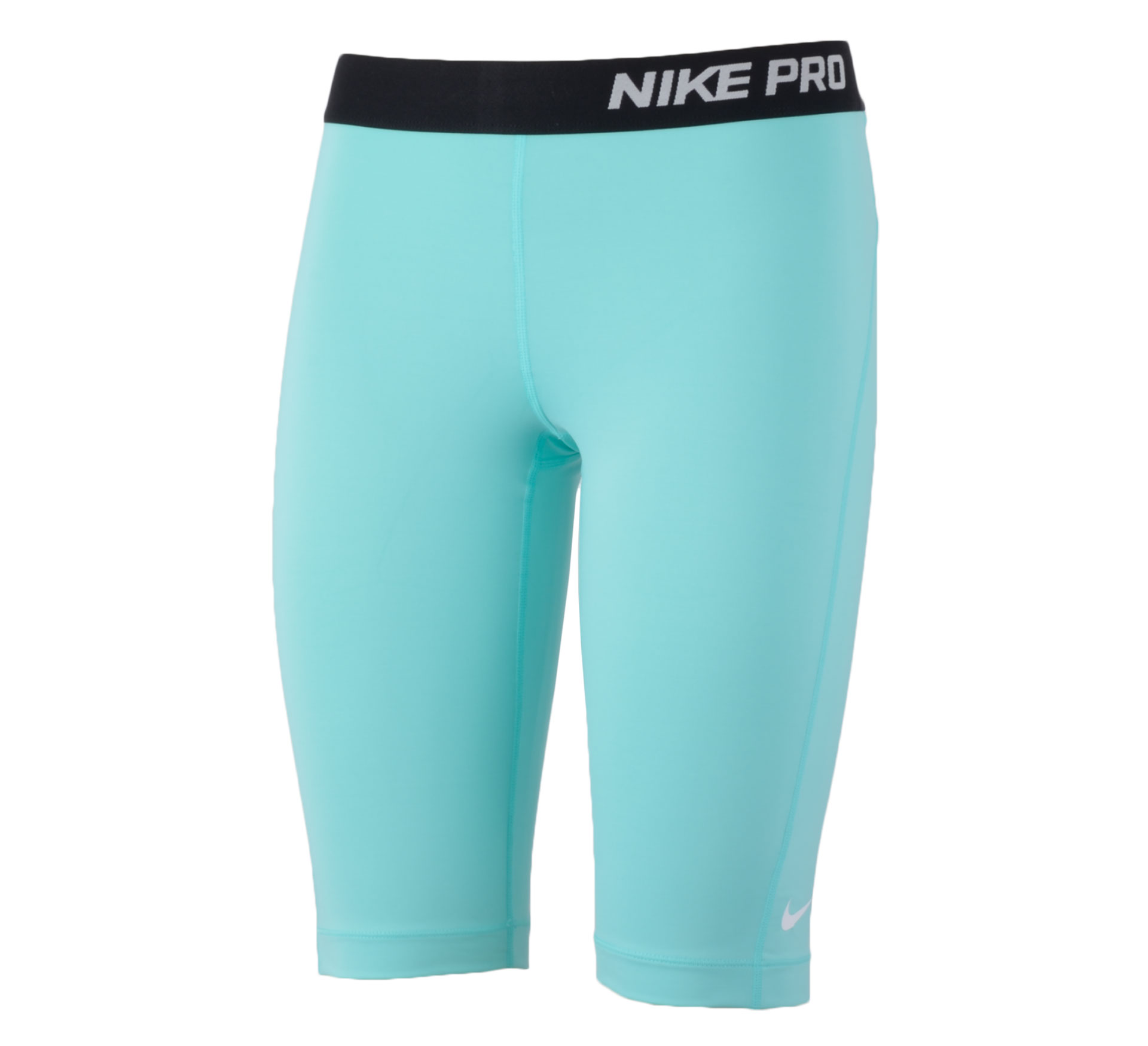 Nike  Pro 11'' Short Dames licht blauw - zwart