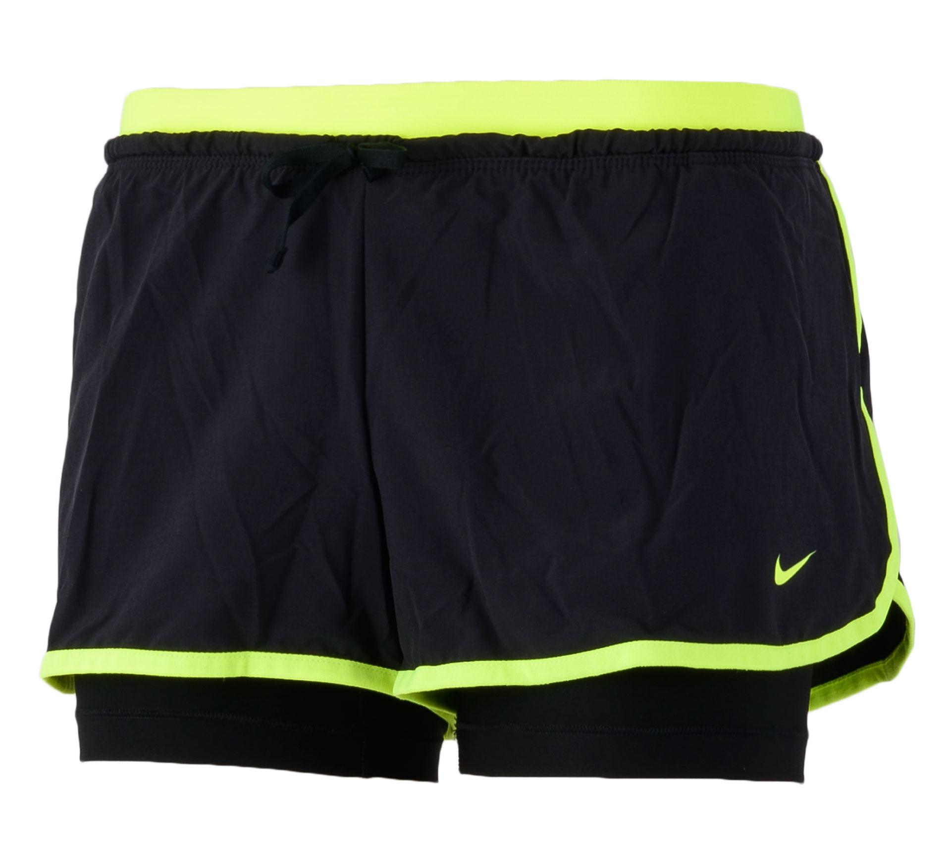 Nike Full Flex 2-in-1 Short Dames zwart - geel
