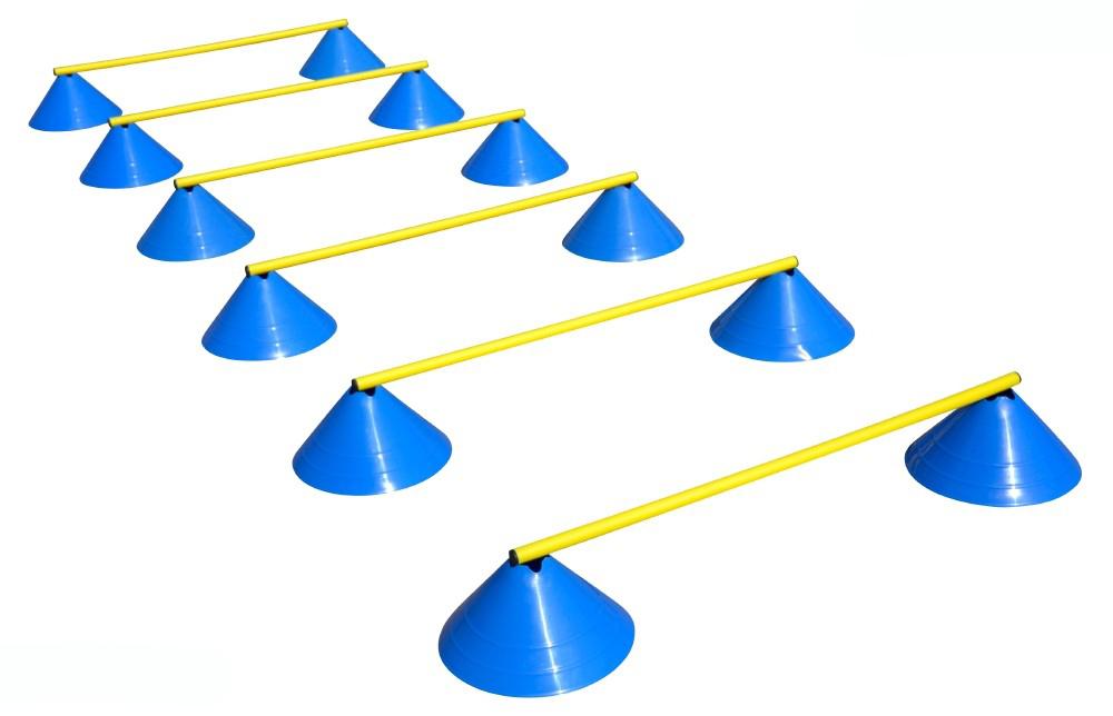 Haest Behendigheid Horden Set - Zes Horden - 16 cm licht blauw