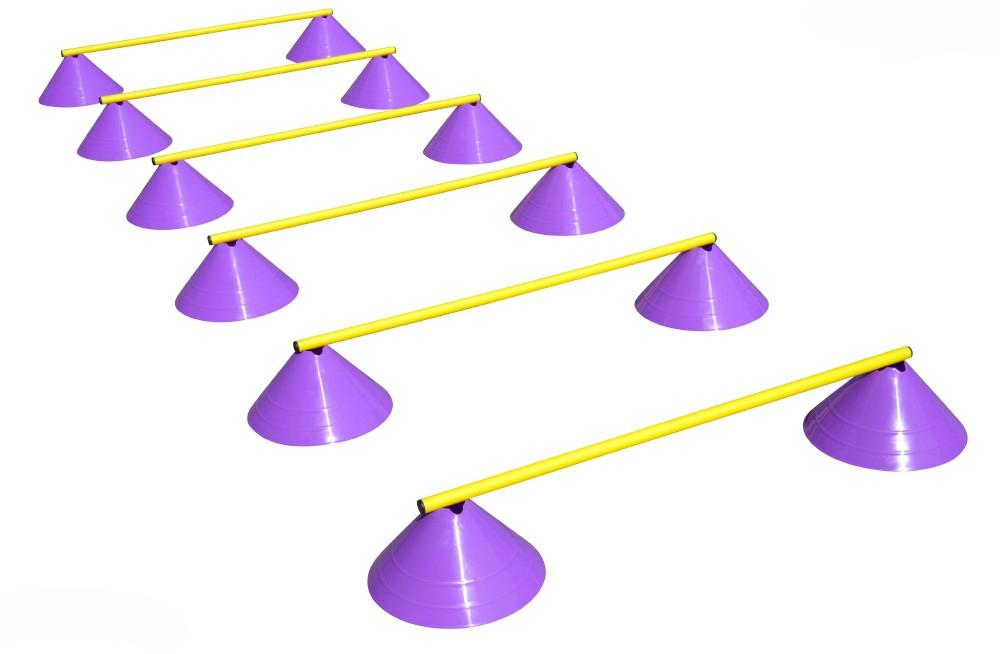 Haest Behendigheid Horden Set - Zes Horden - 16 cm paars