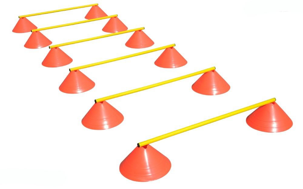 Haest Behendigheid Horden Set - Zes Horden - 16 cm oranje