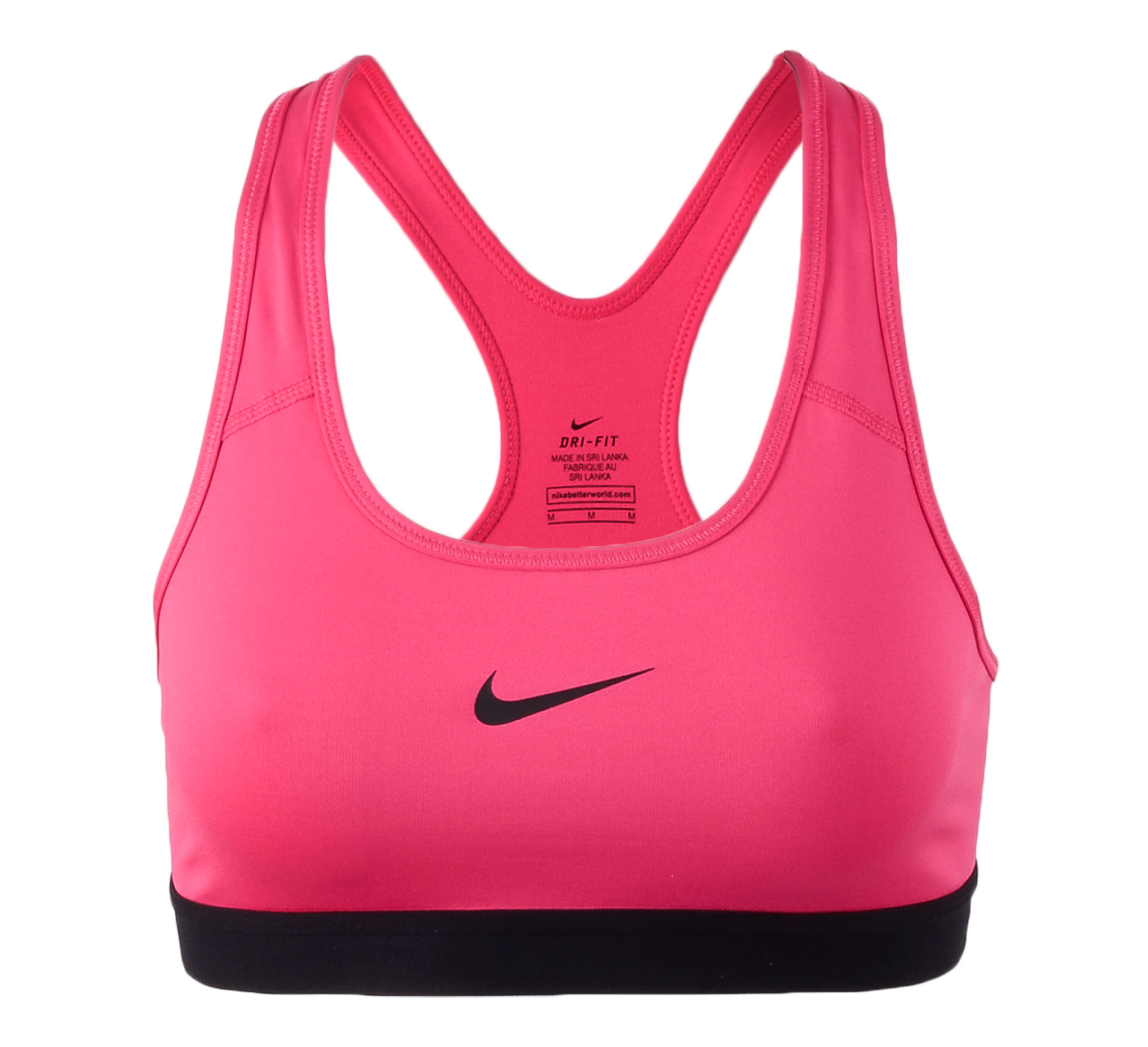 Nike  Pro Classic Sport Beha Dames roze - zwart