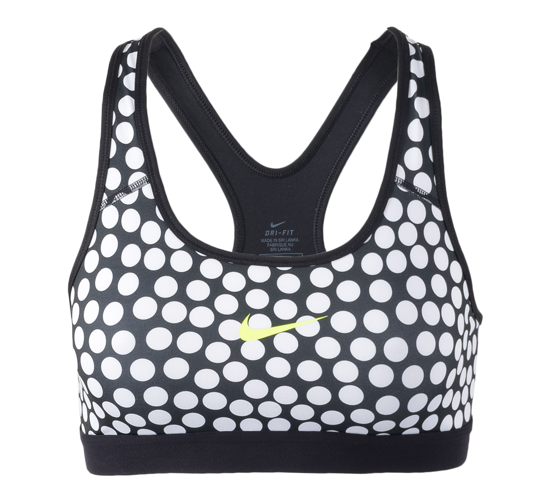 Nike Pro Classic Dot Bra wit - zwart