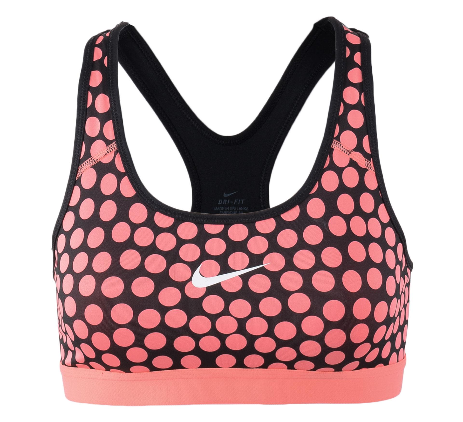 Nike  Pro Classic Dot Bra roze - zwart