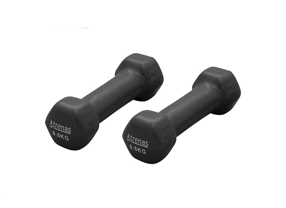 Trenas  Pair of Two Vinyl Dumbbells