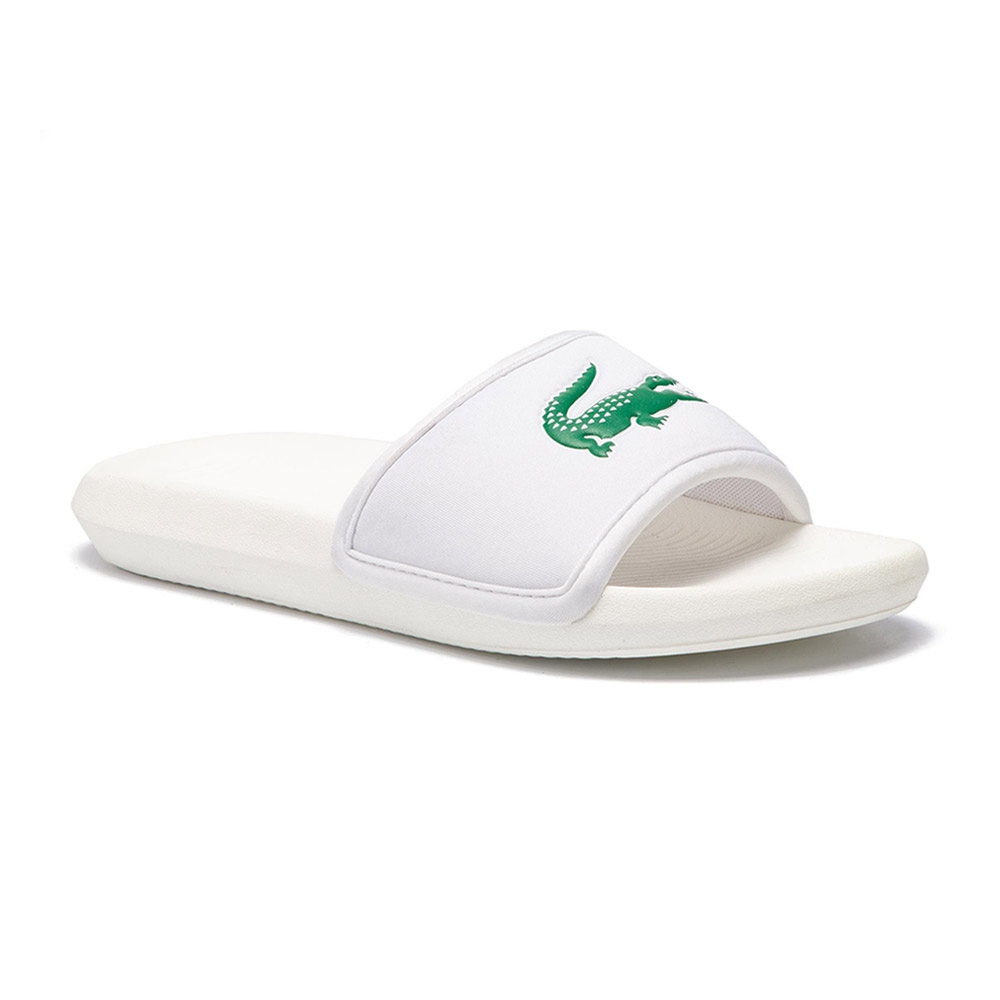 Lacoste Croco Slide slippers heren wit/groen