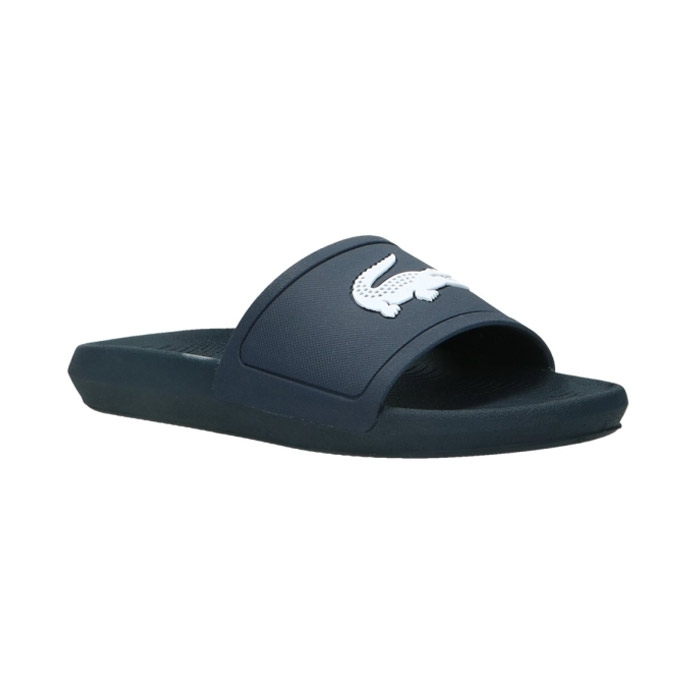 Lacoste Croco Slide slippers heren marine/wit