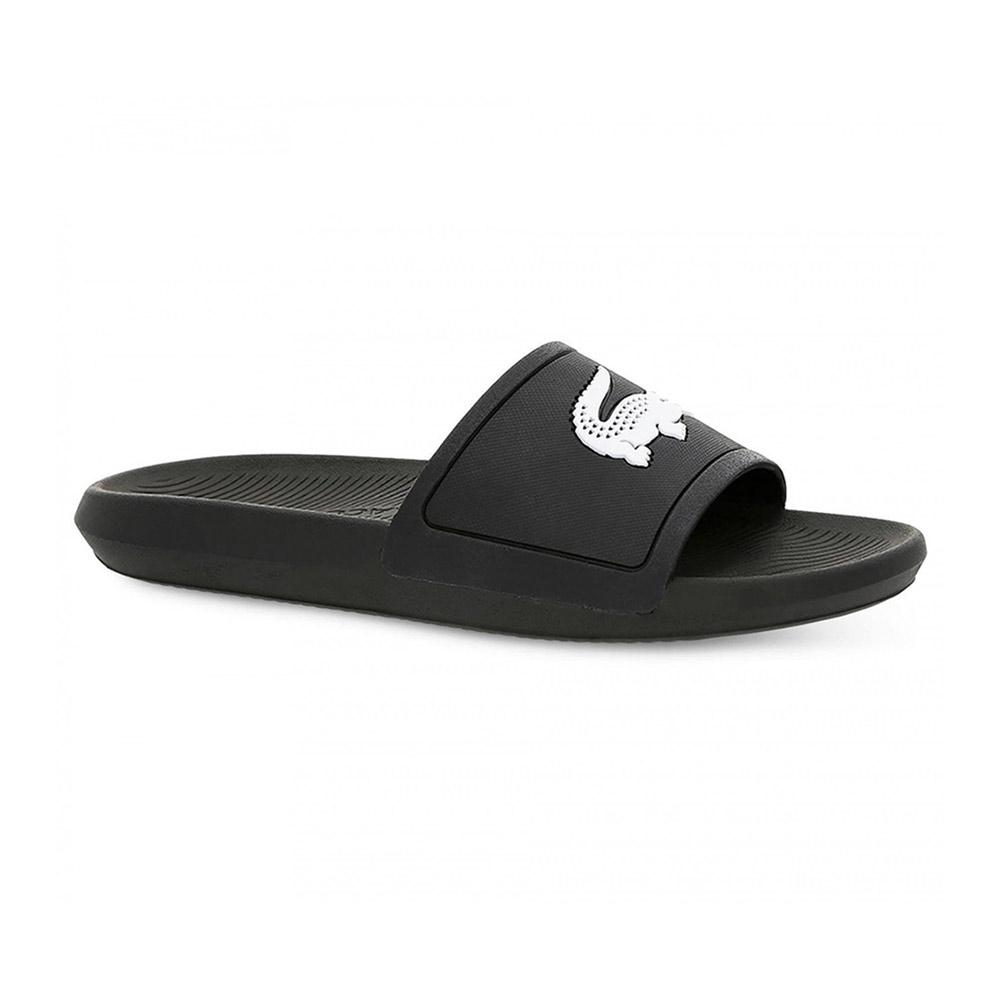 Lacoste Croco Slide slippers heren zwart/wit