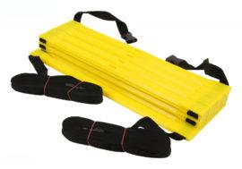 Haest Premium behendigheid ladder - 9 m - geel - verstelbaar