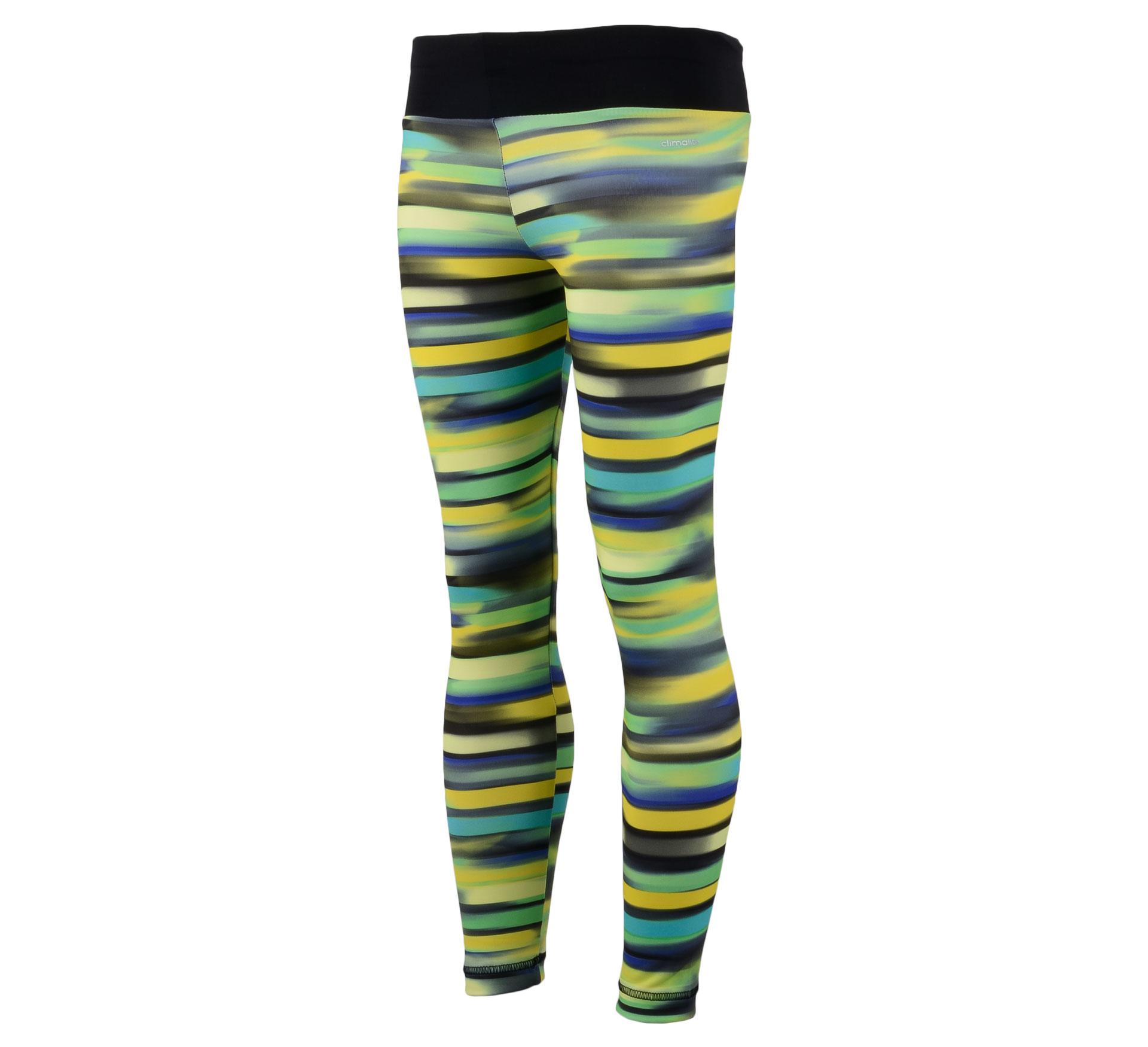 Adidas YG AIS Tight zwart - geel - groen