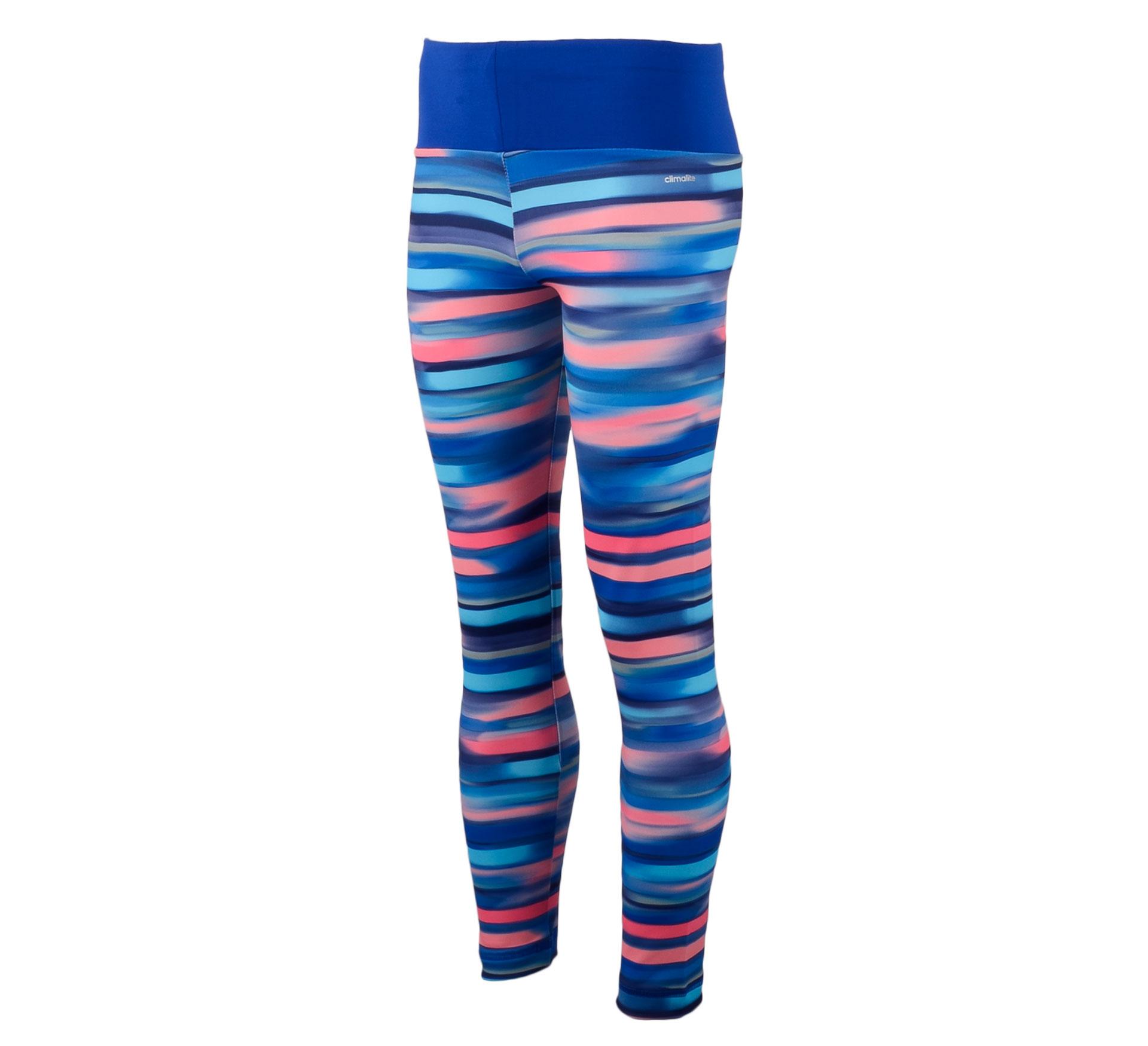 Adidas YG AIS Tight blauw - roze