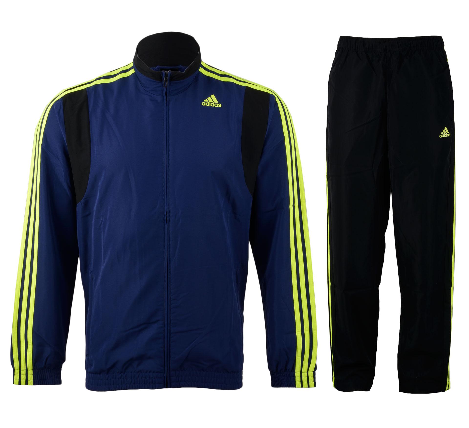 Adidas  TS Basic 3S navy - zwart - geel
