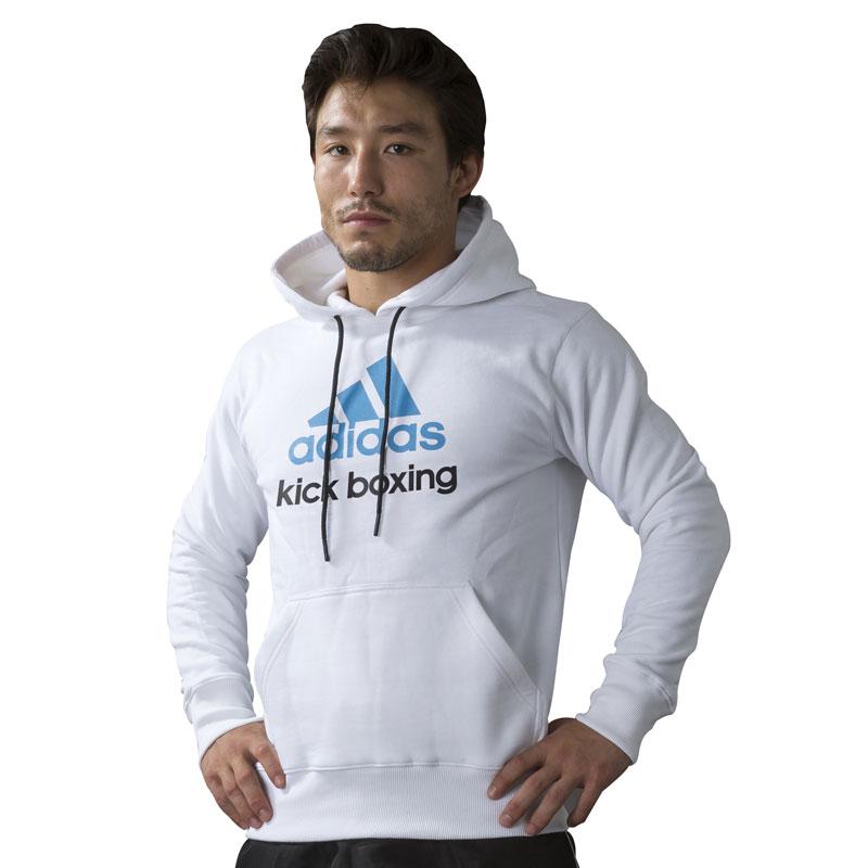 Adidas Community Kickboxing Hoodie - Wit/Blauw
