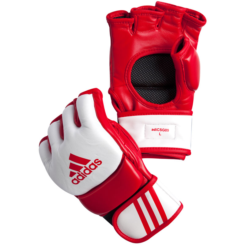 Adidas  MMA Competition Handschoenen - Rood/Wit