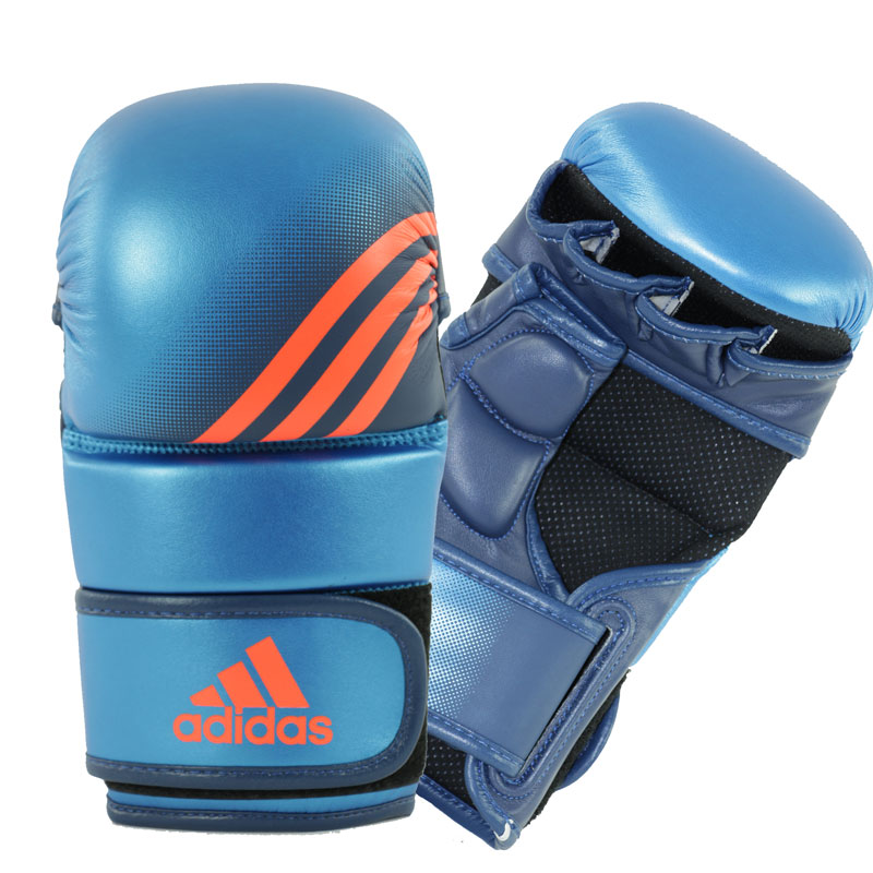 Adidas Speed Grappling Handschoenen - Blauw