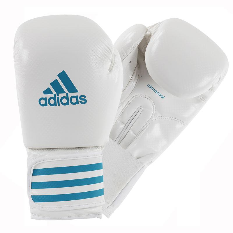 Adidas  Female Power 100 ADIZERO (kick)Bokshandschoenen - Wit/Blauw