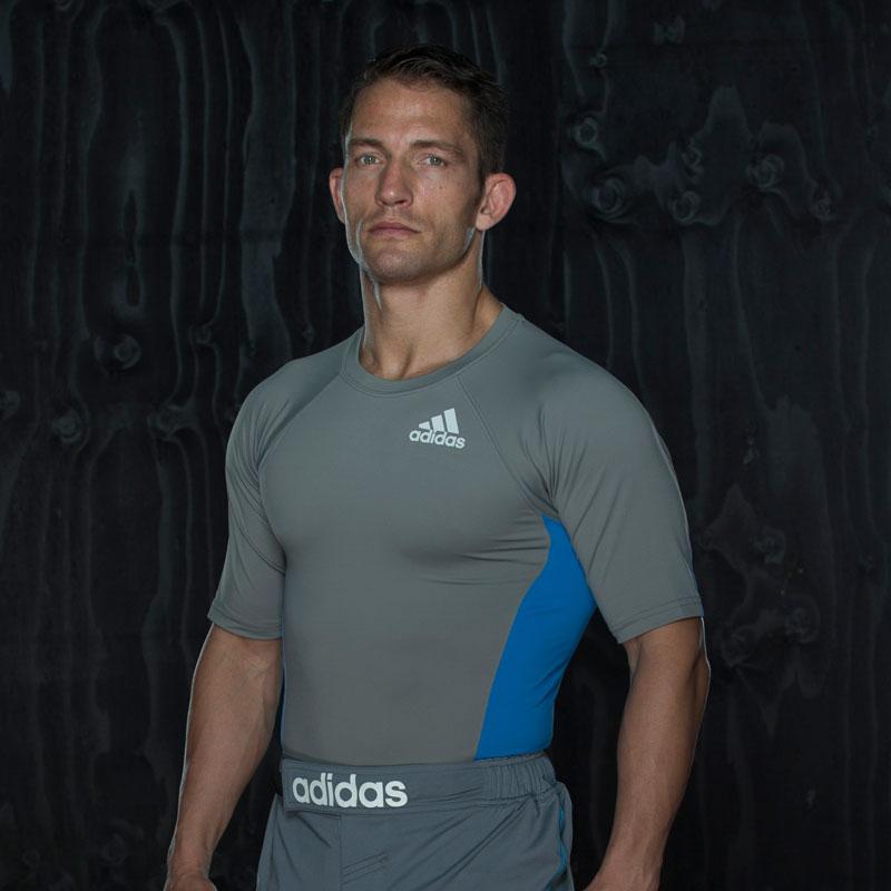 Adidas Training Rashguard Short Sleeve - Grijs