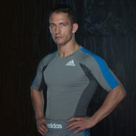 Adidas Fluid Technique Rashguard Korte Mouw - Grijs/Blauw