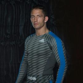 Adidas Ultimate Athlete Rashguard Lange Mouw - Grijs/Blauw