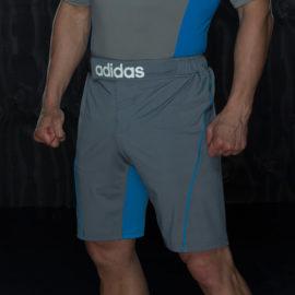Adidas Training MMA Short - Grijs/Blauw