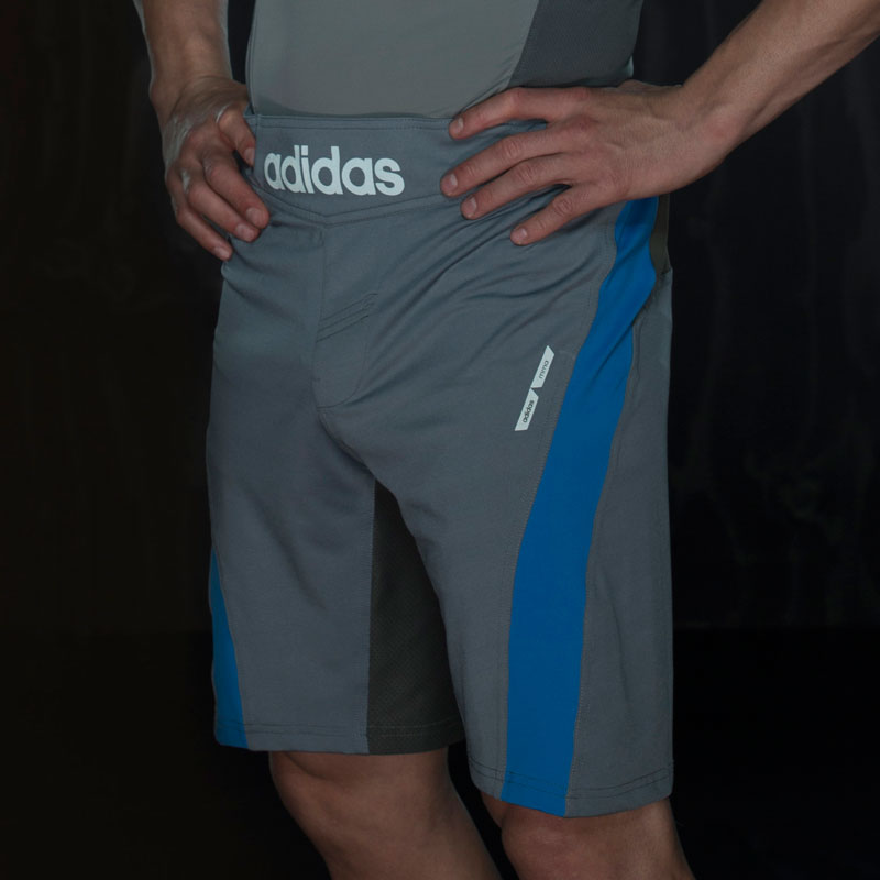 Adidas Fluid Technique MMA Short - Grijs/Blauw