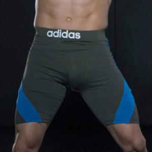 Adidas MMA/BJJ Training Short Closefit - Grijs/Blauw