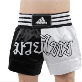 Adidas Thaiboksshort Half/Half - Zwart/Wit