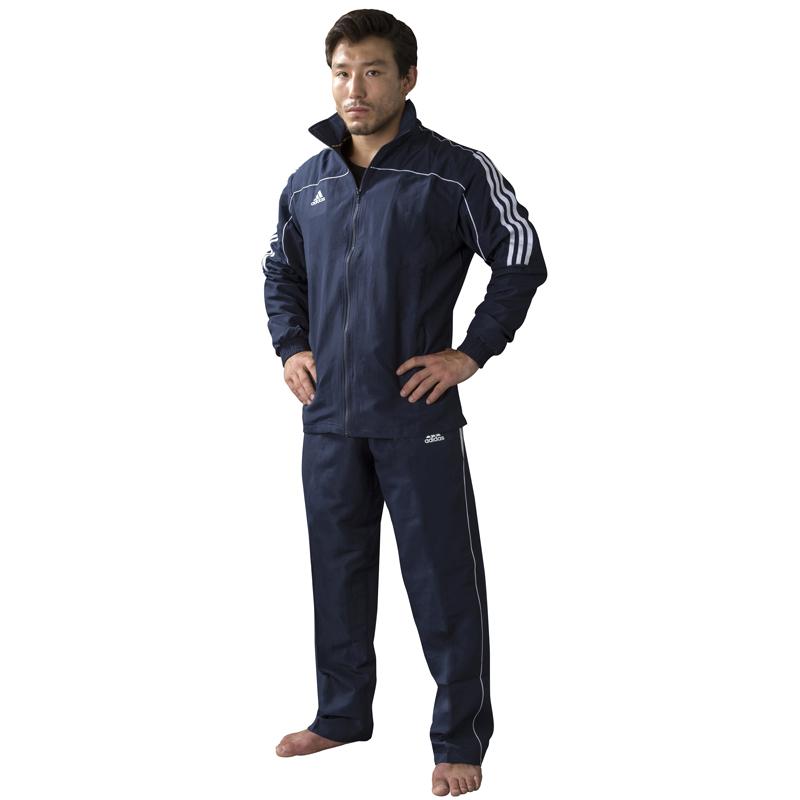 Adidas Team Track Trainingsjas - Blauw/Wit