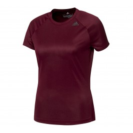 Adidas D2M Tee Lose W donker rood